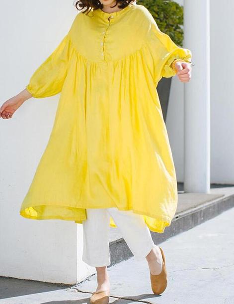 dress loose long dress sundress