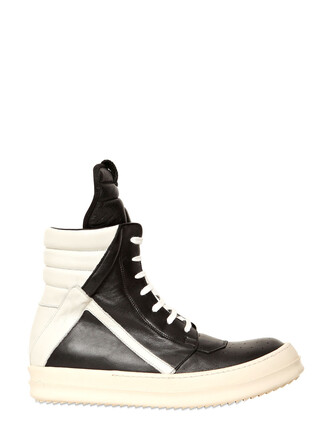 high sneakers high top sneakers leather white black shoes