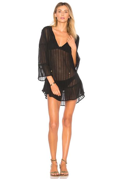 Vix Swimwear dress tunic dress ruffle black