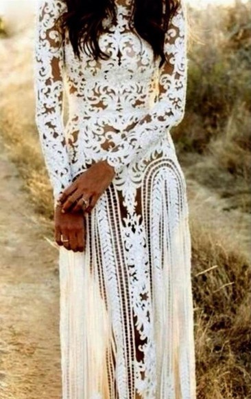 dress long sleeve dress gown white dress white classy floral silk mesh bodycon beauty insanity godess someone help please find elegant special occasion dresses style