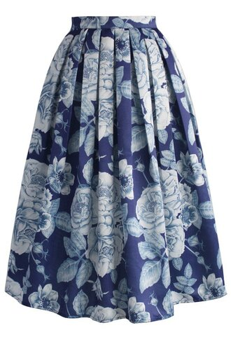 skirt endearing rose print midi skirt chicwish midi skirt floral printed skirt