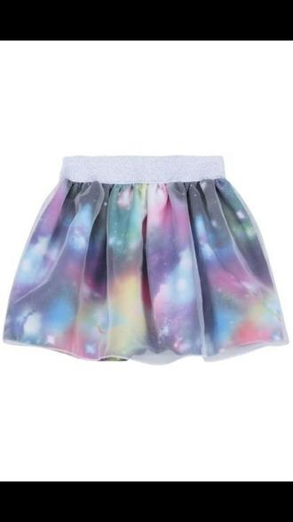 skirt galaxy print pastel goth japanese street fashion