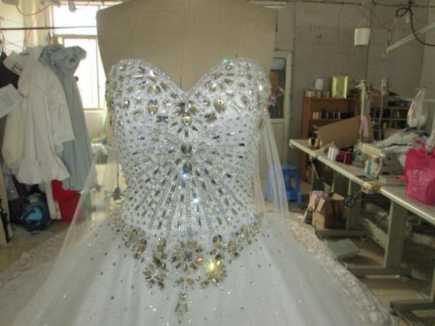 Dress sissi wedding dress evening outfits wedding dress bling