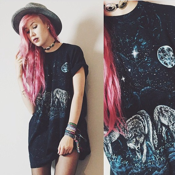 grunge t-shirt casual clothes cool top