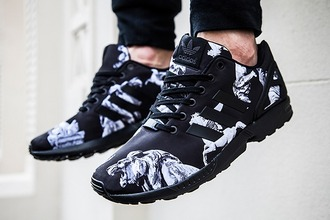 adidas mens shoes lion black and white shoes adidas shoes tiger zxfux black swag sneakers snaeak zxflux zx flux nike white basket