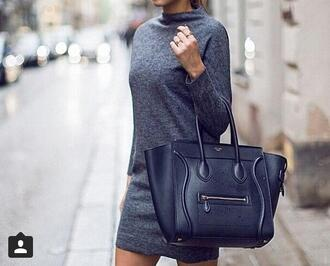 dress grey dress short dress fashion kenza kenzas grey casual casual dress bag