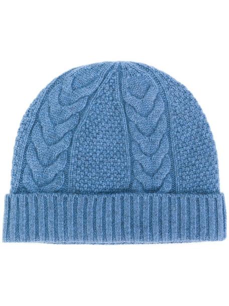 beanie blue knit hat
