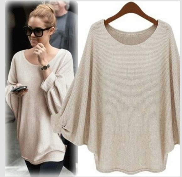 sweater beige sweater oversized sweater shirt beige girls clothes