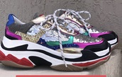 shoes,sneakers,glitter,multicolor,multicolor sneakers,women,love,pretty,musthave shoes,colorful,gymshoes