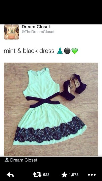 dress mint dress slit dress short dress