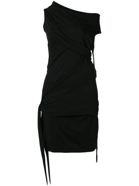 Rick Owens DRKSHDW dress draped dress women draped cotton black