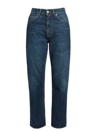 jeans cropped jeans cropped high dark blue dark blue