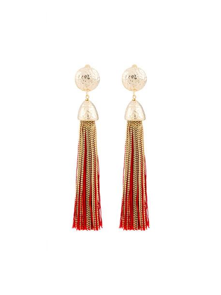 Rosantica tassel women earrings cotton grey metallic jewels