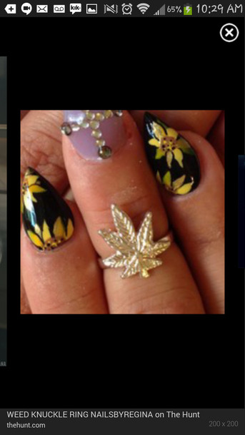 jewels gold weed ring
