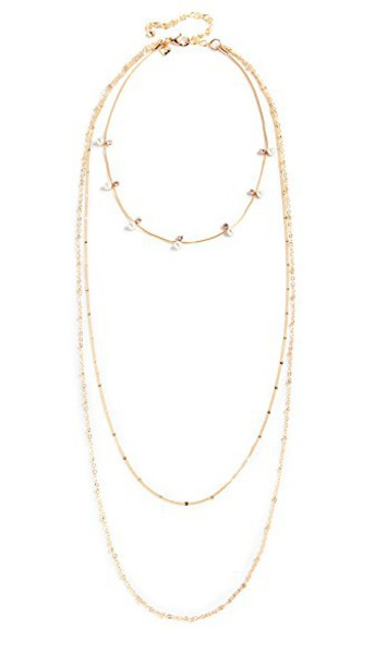 Rebecca Minkoff chain necklace pearl necklace gold jewels
