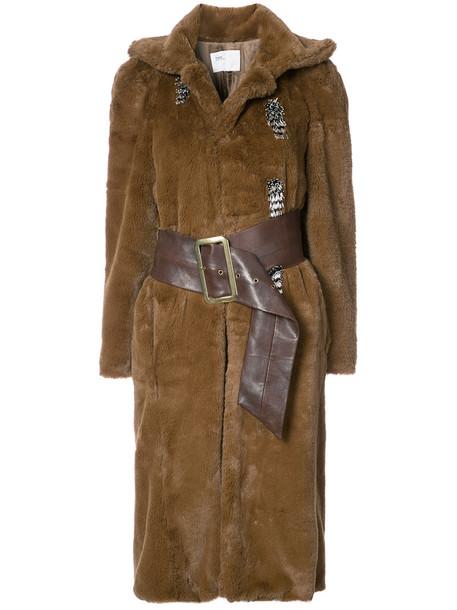 Toga coat women brown