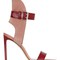 105mm leather & suede sandals