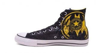shoes black yellow converse batman