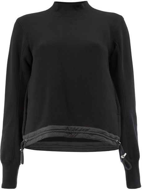 Sacai sweater women drawstring cotton black