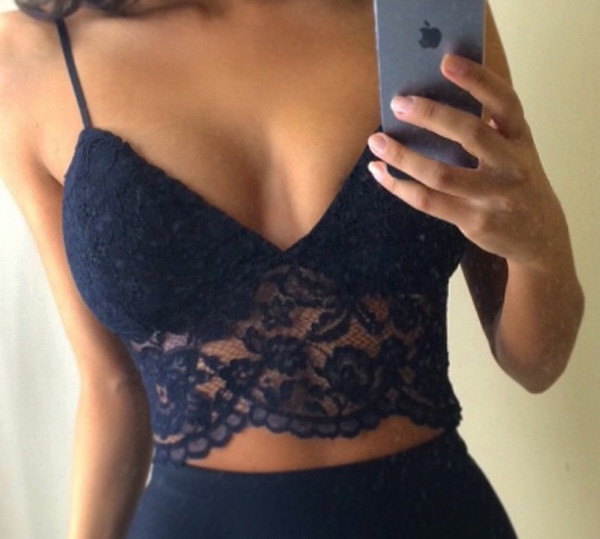Top lace bra bralette lace top lace bralette lace for Shirt that looks like a bra