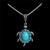 Women Jewelry Natural Stone Rhinestone Turtle Shaped Pendants