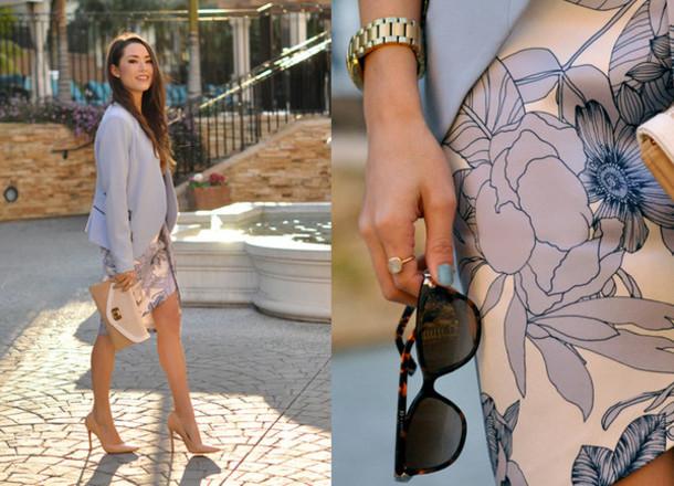 hapa time blogger jacket top skirt shoes bag jewels sunglasses