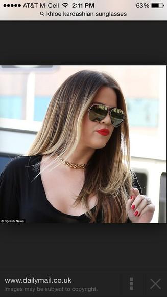 black sunglasses khloe kardashian