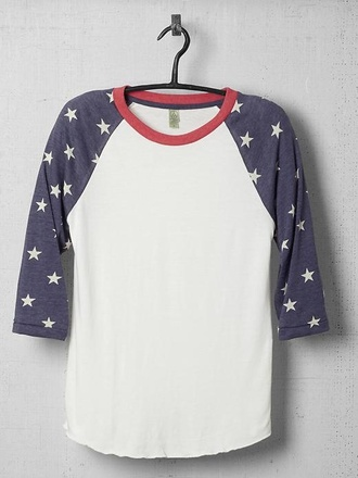 t-shirt american flag raglan baseball