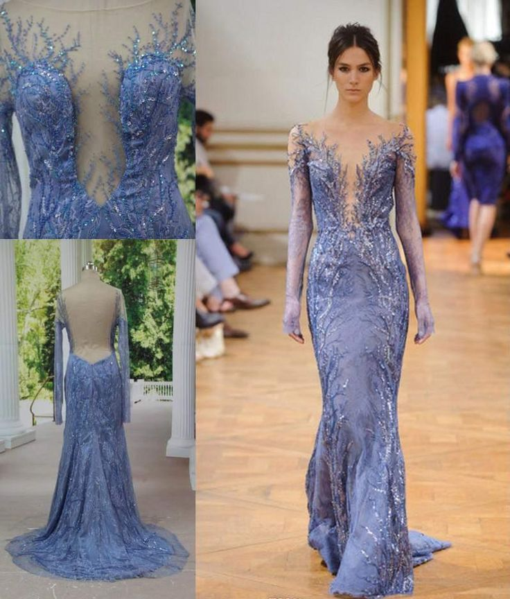 4e4a35b91 Wholesale Sheer Evening Dresses - Buy Zuhair Murad Long Sleeve Backless  Lace Evening Dresses Real Pictures Sheer ...