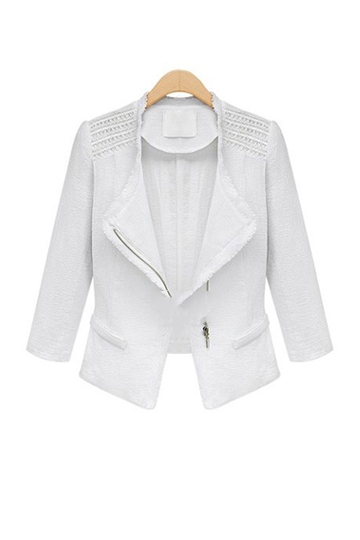 New Look Linen Suit Coat [FEBK0139] - PersunMall.com