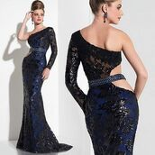 dress,houseofwu,panoply,brocade,prom dress,navy dress,blue dress,evening dress,asymmetrical,fit and flare dress