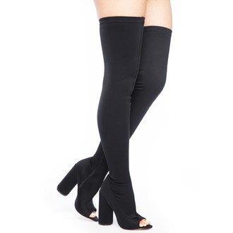 shoes boots black black shoes black boots black thigh high boots open toes peep toe boots peep toe flyjane thigh highs thigh high boots