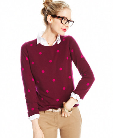 Neck cashmere sweater