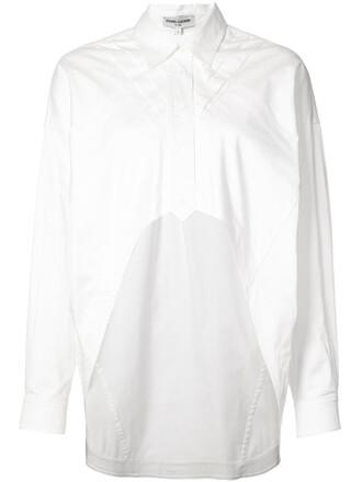 top women white cotton satin