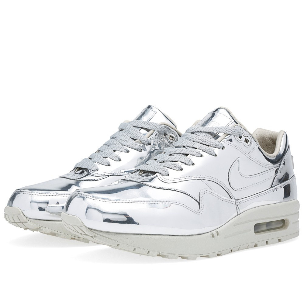 Nike Air Max 1 SP 'Liquid Silver' (Metallic Silver & Light Bone)