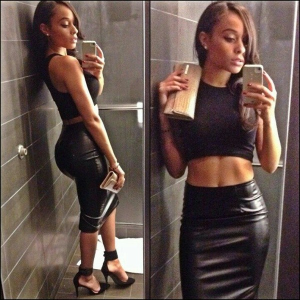 High waisted leather look pencil skirt – Modern skirts blog for you