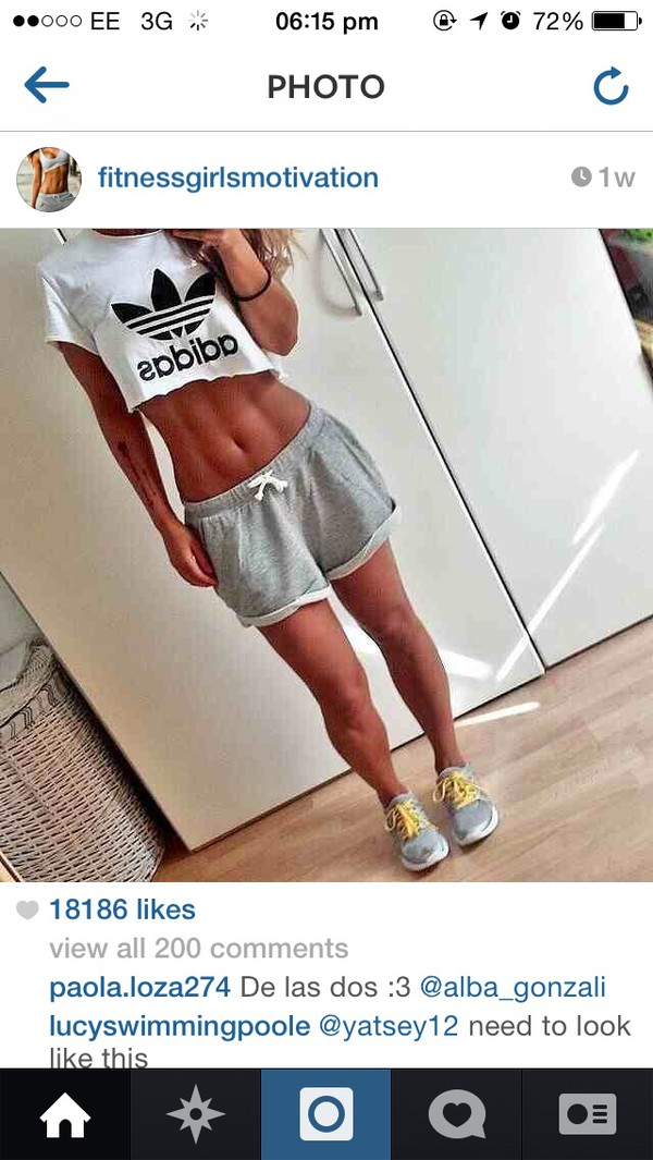 top black and white adidas shirt shorts grey pants