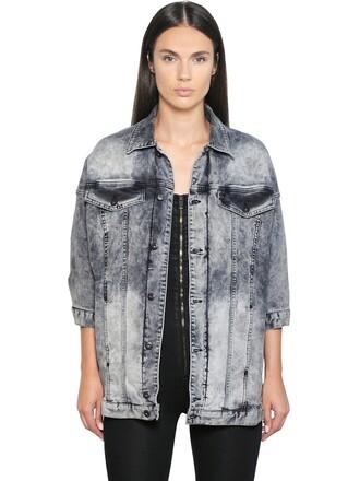 jacket denim jacket denim cotton grey