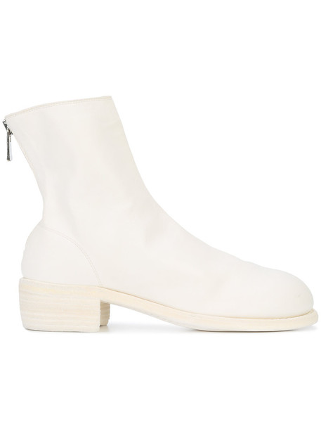 Guidi horse women ankle boots leather white shoes