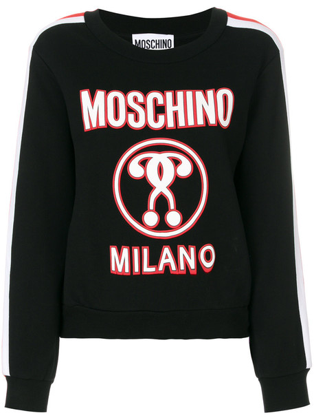 Moschino sweatshirt women cotton black sweater