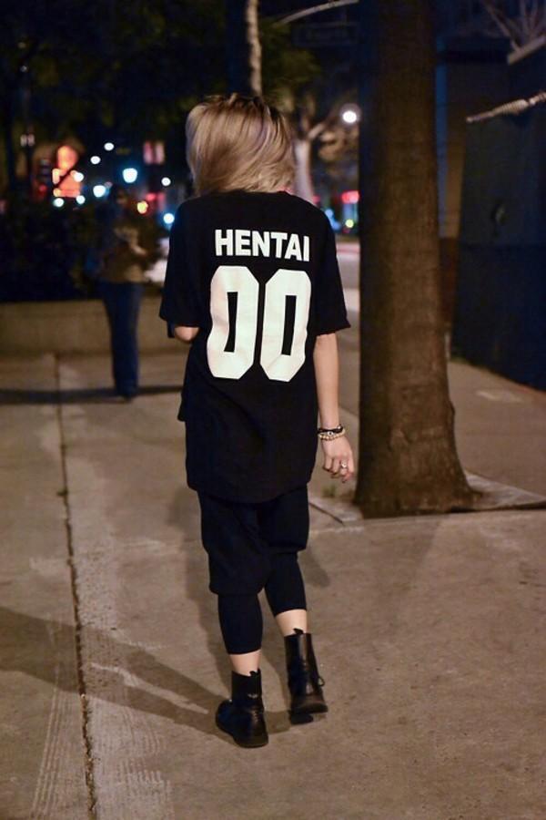 Shirt Hentai Black Tumblr Streetstyle Modern Jersey