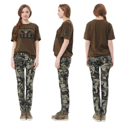 Online Shop Plus Size Military Women's Zipper Camouflage Pants Casual Skinny Pencil Slim Boot Cut Jeans Trousers Female With Belt|Aliexpress Mobile