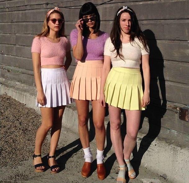 Luxury Women Skirts Summer Chiffon High Waist Short Skater Pleated Skirt