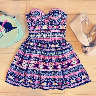 dress tribal print dress