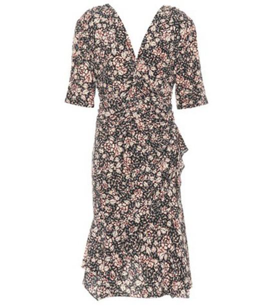 Isabel Marant dress floral silk black