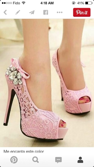 shoes pink shoes high-heels shoes