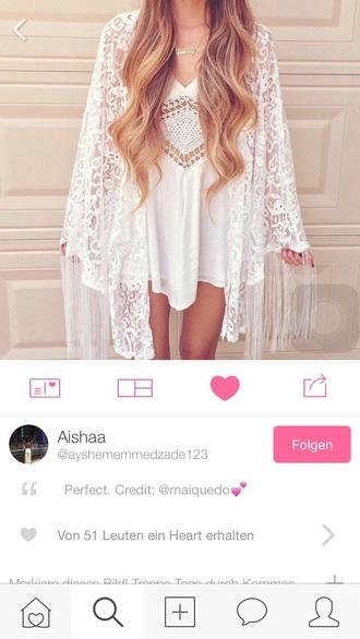 dress white cut-out dress crochet