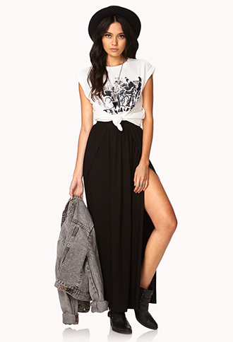 Slit Maxi Skirt | FOREVER21 - 2031557899