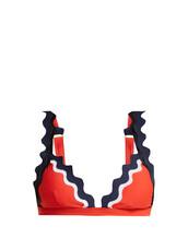 bikini,bikini top,triangle bikini,triangle,orange,swimwear