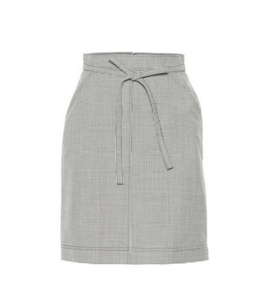 AlexaChung Houndstooth wool-blend skirt in black